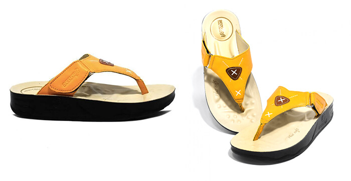 Voyagee ls3705 yellow women platform sandals with arch supportive