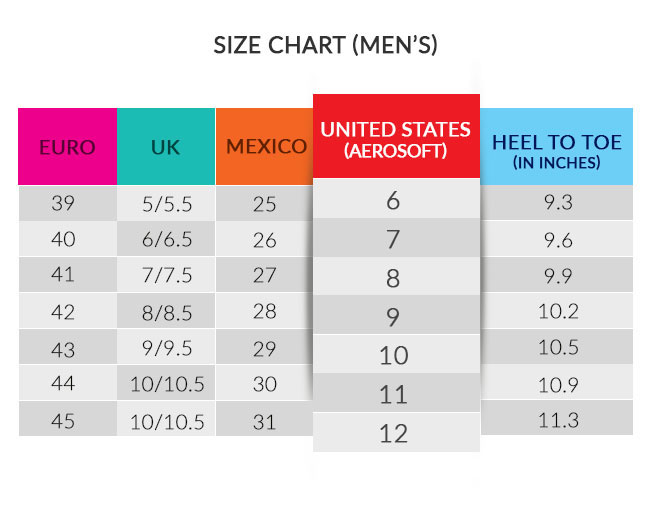 men sizechart aerosoft